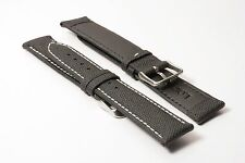 Men's Hadley-Roma 20mm Sailcloth Everyday Carry Watch Strap - White MS744