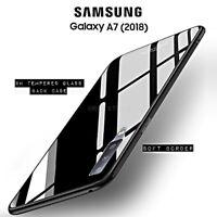COVER per Samsung Galaxy A7 2018 ORIGINALE Crystal Glass RETRO VETRO TEMPERATO
