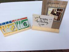 WOODEN WOOD PLAYING CARD & PHOTO HOLDER SHIPS FREE CHILD SAFE FINISH