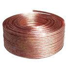 30m Cable de altavoz 2x1, 5mm ²CCA REDONDO TRANSPARENTE Marcador de metros
