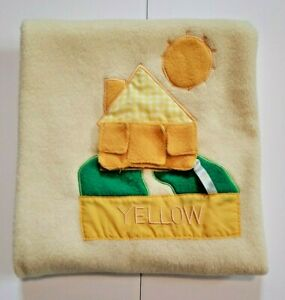 Blankets And & Beyond Yellow Baby Blanket House Stitched Windows To Open Fleece
