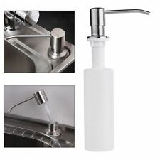 350ML Kitchen Sink Liquid Bathroom Soap Dispenser Stainless Steel Head Bottle US