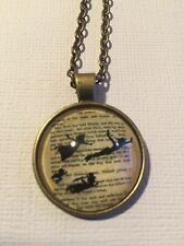 Vintage Pieces - Bronze Necklace Glass Cameo - Peter Pan