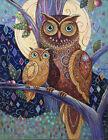 Chart Needlework Embroidery DIY Counted Cross Stitch Pattern PDF Owls