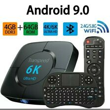 Android Tv Box 9.0, TV Box 2.4G 5.8G Dual Band WiFi 4GB 64GB with Bluetoo... New