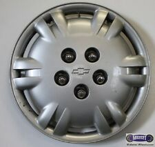 "'95-'01 CHEVY, 15"" USED HUBCAP, 12 SLOT, PAINTED SILVER, HELD ON BY LUGS, 3223b"