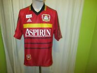 """Bayer 04 Leverkusen Original Adidas Heim Trikot 1998/99 """"ASPIRIN"""" Gr.M"""