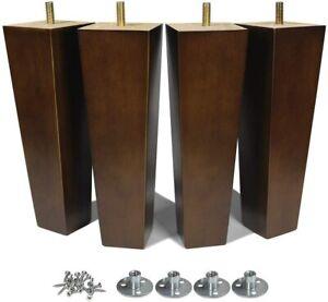 8 inch Wood Sofa Legs MCM Furniture Legs for Dresser Futon Cabinet Couch 4PCS