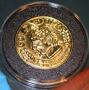 Prop COIN Screen-Used NATIONAL TREASURE Nic Cage, Disney, COA, Acid-free CASE