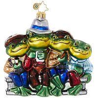 Christopher Radko Ornaments - LUNCH BREAK Glass Christmas Ornament 1018874 Frog