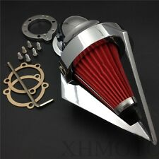Triangle Spike Air Cleaner For Harley S&S Custom Cv Evo Xl Sportster Chrome