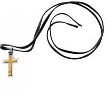 Collana MOOBY TB561 Acciaio Inossidabile Croce Gold Dorata Cross Uomo Donna