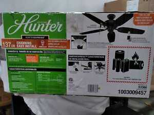 "Hunter Channing 54"" Noble Bronze Ceiling Fan - 53366"