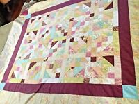 Antique  Handmade Quilt made in great colors