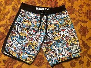 "MAMBO AUSTRALIA ""Kirks"" Board Shorts Size 34 LIMITED EDITION"