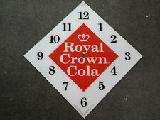"*NEW* 15"" RC ROYAL CROWN SODA POP DIAMOND GLASS clock FACE FOR PAM WWII"
