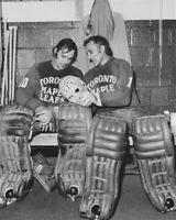 Ron Low, Jacques Plante Toronto Maple Leafs 8x10 Photo