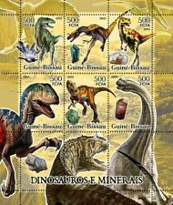 Guinea Bissau  2005 dinosaurs and minerals
