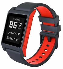 Pebble 2 + Heart Rate Black/Flame Polycarbonate Case Classic Buckle - (1002-00065)