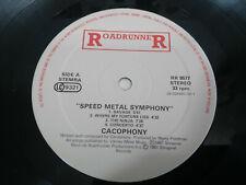 "Cacophony Speed Metal Symphony 1987 friedman - LP 12"" Vinilo VG/VG - No Cover"