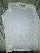 Set of 2 Greys Anatomy Scrubs Undershirt Long Sleeve Shirt white Size M