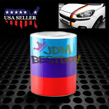 """10""""x98"""" M Racing Stripe Car Sticker Decal For BMW Exterior Hood Roof Bumpers L"""