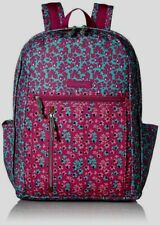 "VERA BRADLEY~FULL SIZE ""GRAND BACKPACK""~DITSY DOT~PINK & TEAL BLUE~BNWT!"