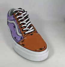 Vans Old Skool Skate Shoe , размер 9.5 US (M) - ortange/purple