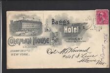 UTICA,NEW YORK,1894, FULL ADVT COVER, BAGG'S HOTEL,& COLEMAN HOUSE.