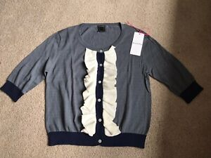 Orla Kiely Cotton Frill Cardigan BRAND NEW WITH TAGS