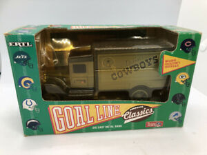 1993 Dallas Cowboys Delivery Truck Bank Goal Line Classics by ERTL 1st In Series