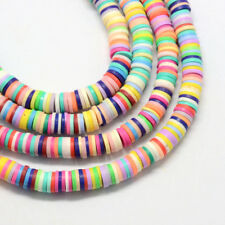 100 Polymer Clay Rainbow Colourful Round Beads Approx 6mm same day fast p&p