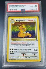 Pokemon PSA 8 Dragonite Holo Fossil Near Mint 4/62