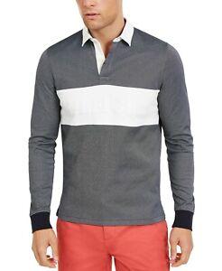 Tommy Hilfiger Men's Sky Captain Colorblocked Slim Fit Long Sleeve Polo Shirt
