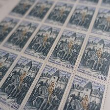 FEUILLE SHEET TIMBRE HISTOIRE JEANNE D'ARC N°1579 x25 1968 NEUF ** LUXE MNH
