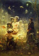 More details for ilya repin sadko 1876 realism preraphaelite canvas art poster print painting