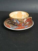 Made In Japan Mini Tea Cup And Saucer Endo China Hand Painted