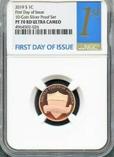 2019-S LINCOLN CENT 1c FIRST 1ST DAY ISSUE From Silver PS NGC PF70RD ULTRA CAMEO