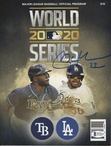 Clayton Kershaw Signed Autographed 2020 World Series Program Dodgers BAS WF10678