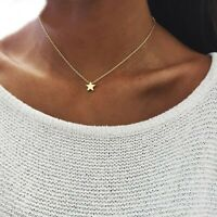 Choker Necklace Gold Silver Color Chain Star Heart Pendant Women Fashion Jewelry