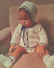"FB11 - Crochet Pattern - Baby's Coat, Pants, Hat & Bootees - 18 (20, 22)"" Chest"