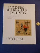 Catalogue vente aux enchères BD Tintin - Hergé - Artcurial 18 novembre 2017