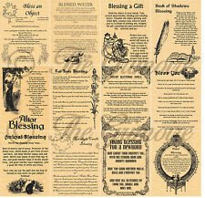 12 Wiccan BLESSINGS, Book of Shadows Spell Pages, Witchcraft, Wicca, BOS