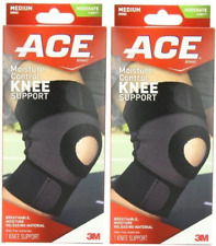 ACE Moisture Control Knee Support, Medium ( 2 Pack)