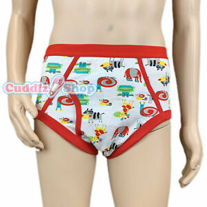 Cuddlz Mens Red Colourful Frog And Animal Pattern Cartoon Underpants Briefs