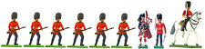 Britains Scots Guards Advancing w/ 2 Officers & Piper - Painted Toy Soldiers