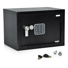 SERENE-LIFE Compact Electronic Safe Box with Mechanical Override, Includes Keys