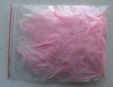 """8g (1/4Oz+) Baby Pink 1~3"""" Turkey Marabou Feathers for crafting, 50-70 counts"""