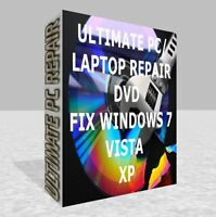 Windows Utilities For Recovery & Repair CD Disc for XP, VISTA, 7, and 8