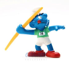 20744 Olimpiadi Javelin Thrower Giavellotto 1A  PUFFO PUFFI SMURFS SCHTROUMPF